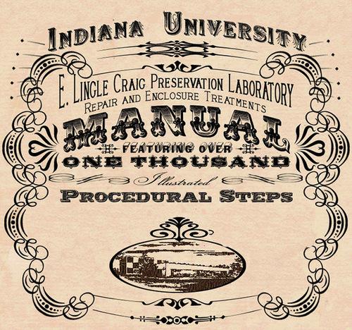Indiana University Libraries Book Repair Manual