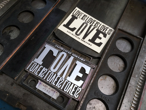 Letterpress postcard ready for printing