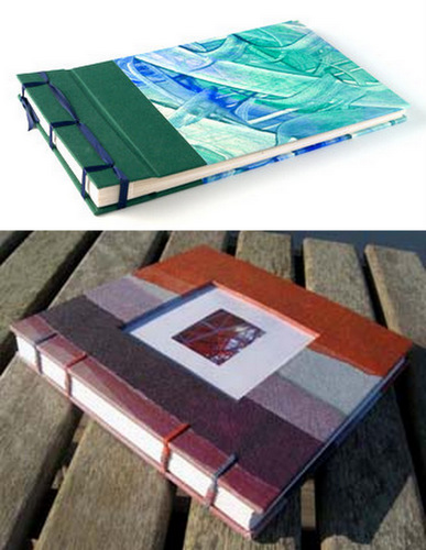Handmade books by Elissa Campbell of Blue Roof Designs