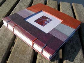 Handmade coptic journal by Elissa Campbell of Blue Roof Designs