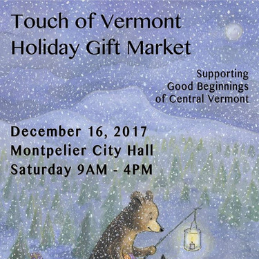 2017 Touch of Vermont Holiday Gift Market poster